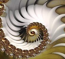 White Wave Fine Fractal Art by Vicky Brago-Mitchell