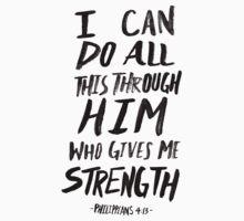 Philippians 4:13 One Piece - Short Sleeve