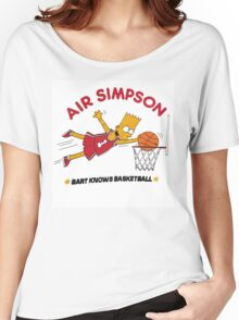 AIR SIMPSON-BART KNOWS BASKETBALL Women's Relaxed Fit T-Shirt
