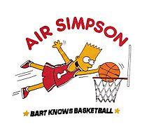 AIR SIMPSON-BART KNOWS BASKETBALL Photographic Print
