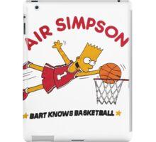 AIR SIMPSON-BART KNOWS BASKETBALL iPad Case/Skin