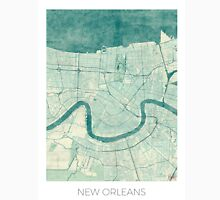New Orleans Map Blue Vintage Unisex T-Shirt