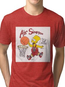AIR SIMPSON-IT'S IN THE SHOES Tri-blend T-Shirt
