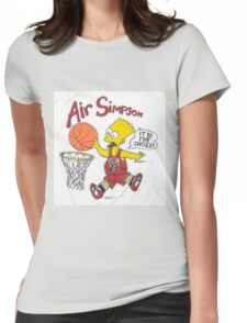 AIR SIMPSON-IT'S IN THE SHOES Womens Fitted T-Shirt