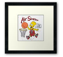AIR SIMPSON-IT'S IN THE SHOES Framed Print