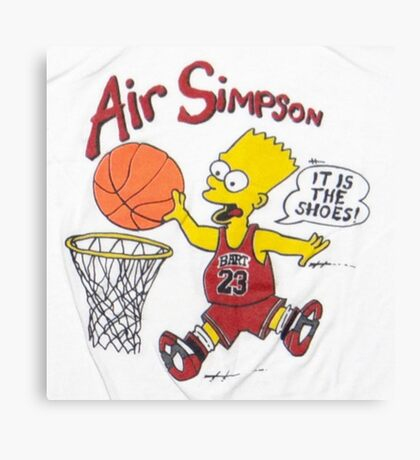 AIR SIMPSON-IT'S IN THE SHOES Canvas Print