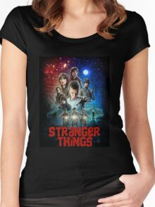 Stranger Things (Goonies) Women's Fitted Scoop T-Shirt