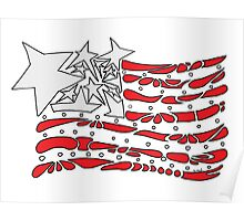 American Flag Stars and Stripes Poster