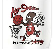 "AIR SIMPSON BLACK BART ""YOU CAN'T TOUCH THIS"" Poster"