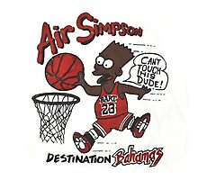 """AIR SIMPSON BLACK BART """"YOU CAN'T TOUCH THIS"""" Photographic Print"""