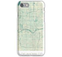 Oklahoma City Map Blue Vintage iPhone Case/Skin