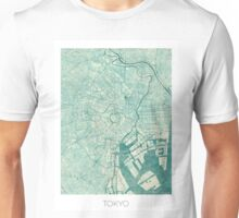 Tokyo Map Blue Vintage Unisex T-Shirt