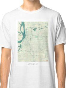 Memphis Map Blue Vintage Classic T-Shirt