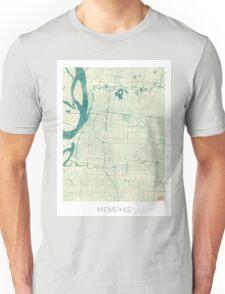Memphis Map Blue Vintage Unisex T-Shirt