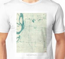 Memphis Map Blue Vintage Unisex T-Shirt