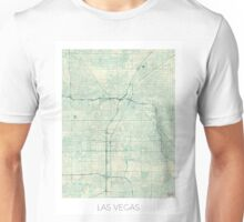 Las Vegas Map Blue Vintage Unisex T-Shirt
