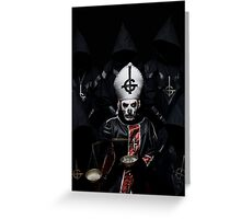 GHOST BC POPE MASTER Greeting Card