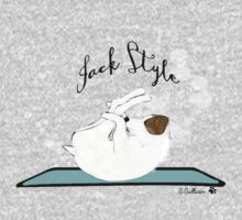 Jack Style - Jack Russell Terriers Doing Yoga on Your Stuff One Piece - Long Sleeve