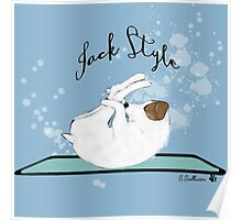 Jack Style - Jack Russell Terriers Doing Yoga on Your Stuff Poster