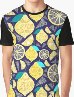 Bright pattern of lemons  Graphic T-Shirt