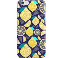 Bright pattern of lemons  iPhone Case/Skin