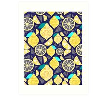 Bright pattern of lemons  Art Print