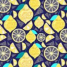 Bright pattern of lemons  by Tanor