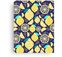 Bright pattern of lemons  Canvas Print
