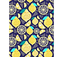 Bright pattern of lemons  Photographic Print