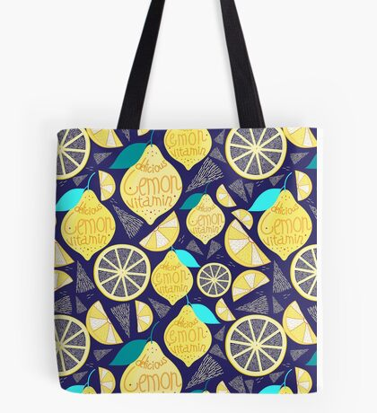 Bright pattern of lemons  Tote Bag