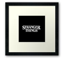 Stranger Things - White shadow Framed Print