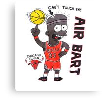 AIR BART CHICAGO BULLS Canvas Print