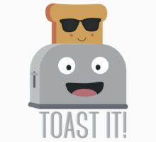 Toaster with cool bread   Kids Tee