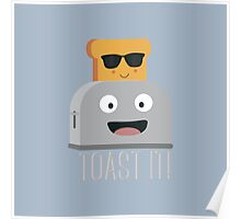 Toaster with cool bread   Poster