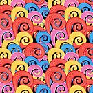 Pattern multicolored swirls by Tanor
