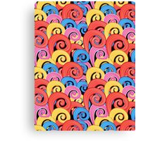 Pattern multicolored swirls Canvas Print