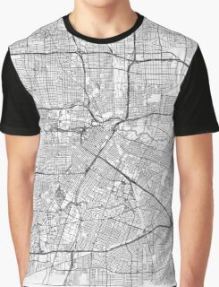 Houston Map Line Graphic T-Shirt