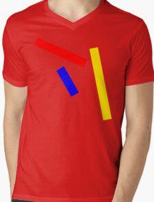 Abstract basic colors Mens V-Neck T-Shirt