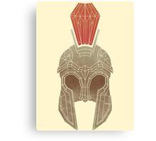 Geometric Trojan Helmet Canvas Print