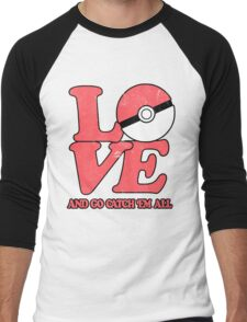 Poke-Love #2 Men's Baseball ¾ T-Shirt