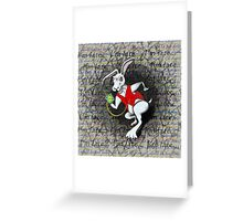 Mad Hare is Late Greeting Card