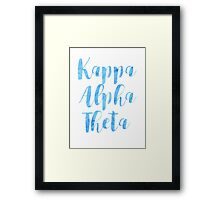 Kappa Alpha Theta Framed Print