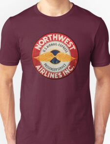 Northwest Airlines Vintage sign Unisex T-Shirt