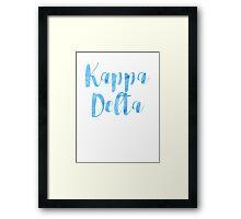 Kappa Delta Framed Print