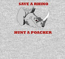 Save A Rhino, Hunt A Poacher Unisex T-Shirt