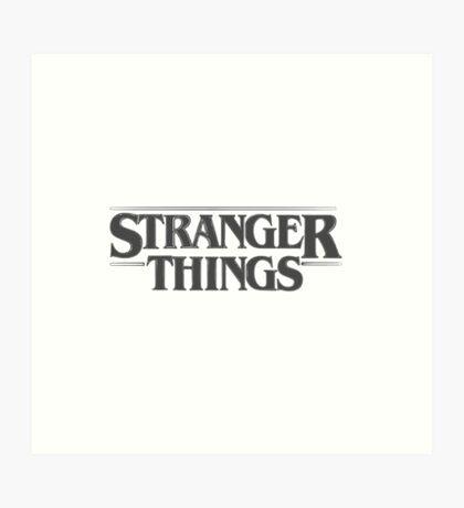 Stranger Things - Black Art Print