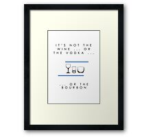 It's Not The Wine ... Or The Vodka ... Or The Bourbon (Airfix Democracies artwork) Framed Print