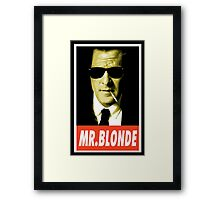 (MOVIES) Mr. Blonde Framed Print