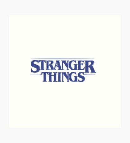 Stranger Things - Blue Art Print