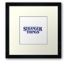 Stranger Things - Blue Framed Print